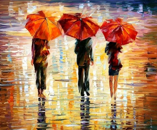 Leonid afremov umbrella.