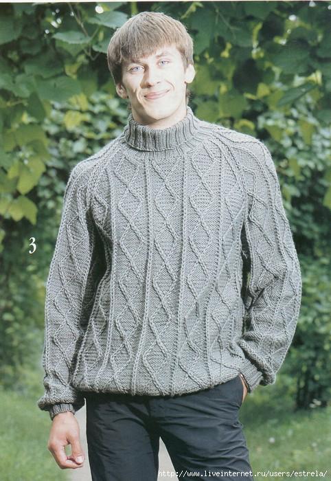 спицами фото мужских свитеров