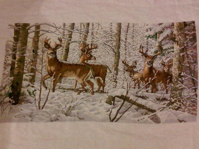 """Схема - 35130 -  """"Woodland Winter """", фото 1 - I.B.STUDIO-вышивка бисером, канва с рисунком, схемы для вышивки крестиком."""