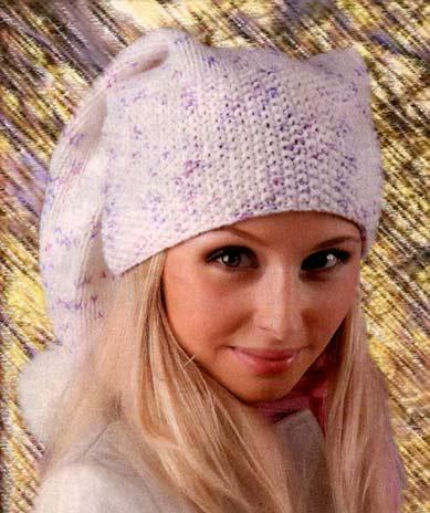 Вязание шапок спицами со
