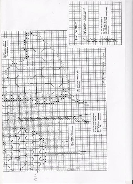 Blackwork Tulpany -2 (508x700,