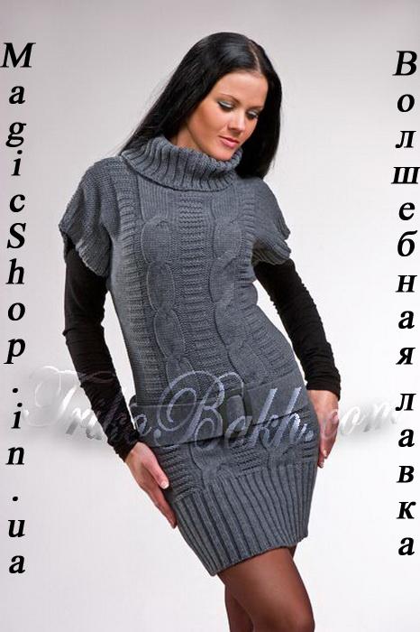 Филейное вязание крючком платья туники