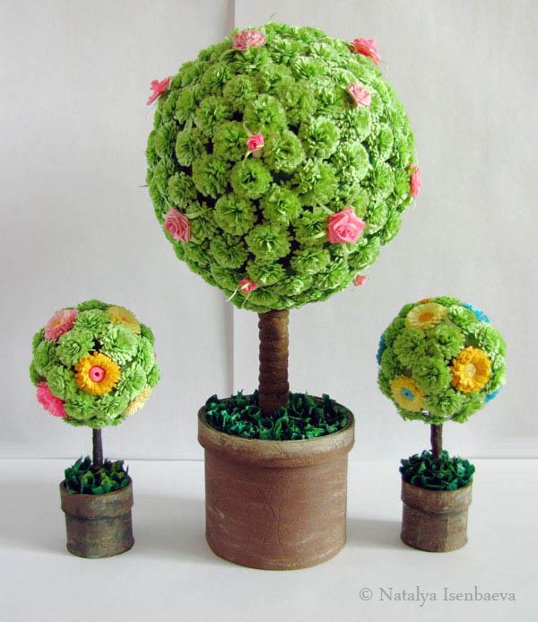Сделай сам своими руками дерево из цветов