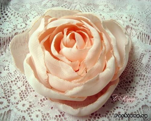 Своими руками цветы из ткани мк