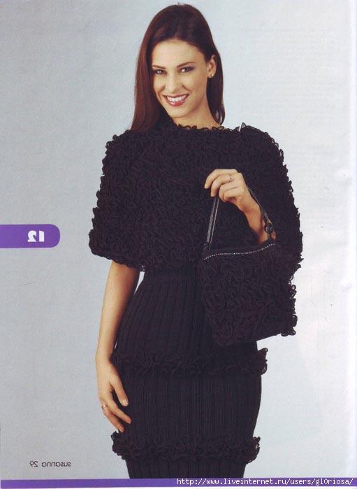Фото вязаных накидок на платье