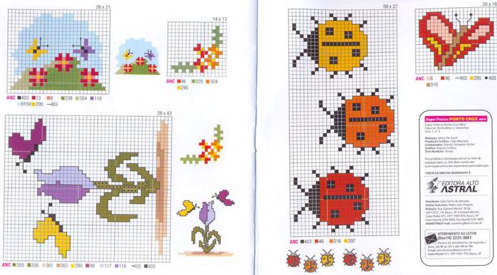 Схемы вышивка крестом с маленькими размерами 646
