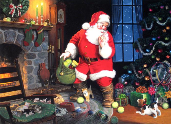 Санта клаус картинки для детей 3