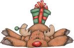 Превью Rudolph and Gift (700x460, 82Kb)