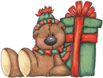 ������ Teddy Bear and Gift (655x498, 101Kb)