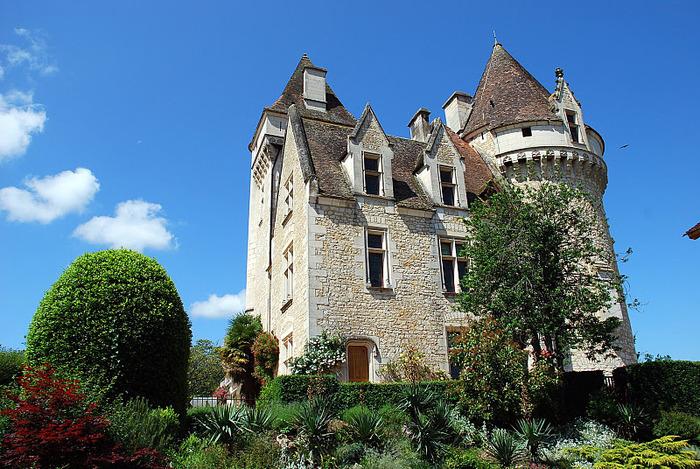 замок в Миланде (Chateau des Milandes). 78619