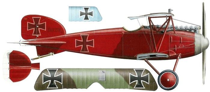Karl Allmenroder. France, May 1917 Альбатрос-3 (700x308, 46Kb)