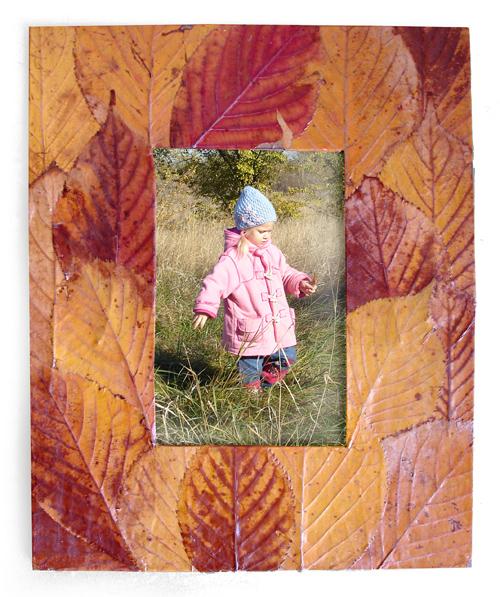 Поделки из листьев фоторамка
