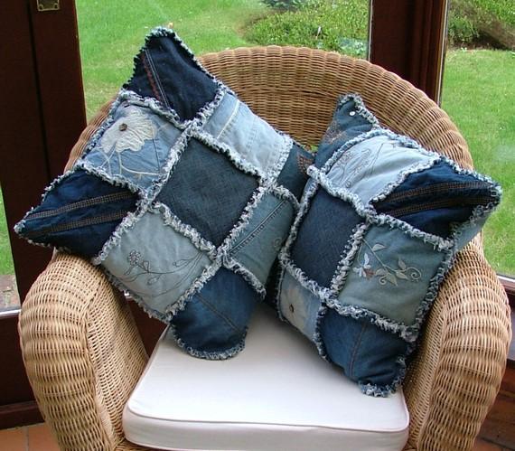 Что можно сделать из старых джинсов (23 фото) .