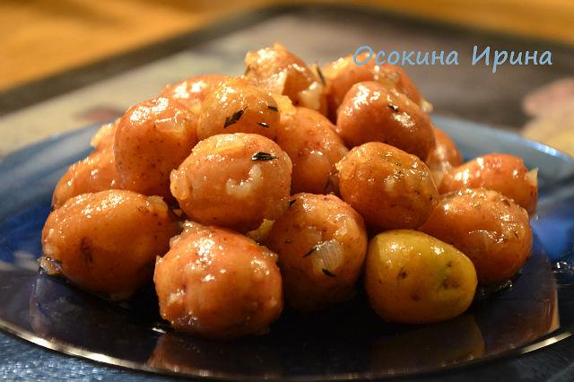 Картофель в карамели