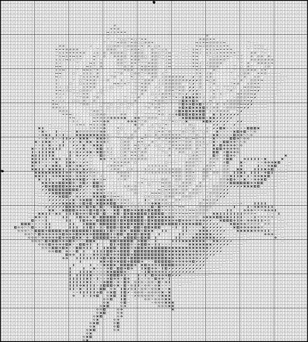 Схемы крестиком черно белой вышивки 30