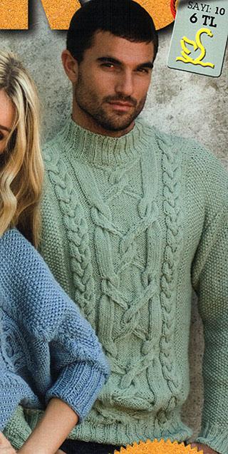 вязание, схемы вязания, вязание спицами, вязание мужского свитера, Серый мужской.