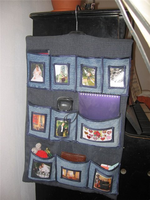 Идеи кармашков для мелочей.  Старые джинсы - новая сумка!