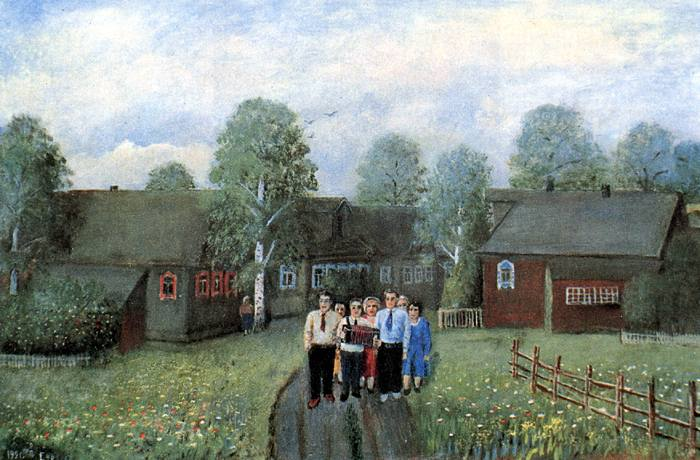 Суворов Александр Васильевич, деревня на Волге