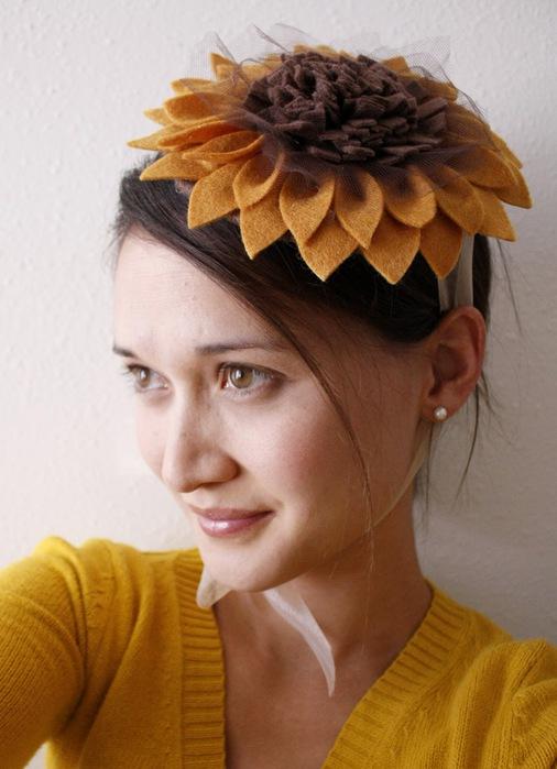 Декоративная шляпка своими руками из фетра