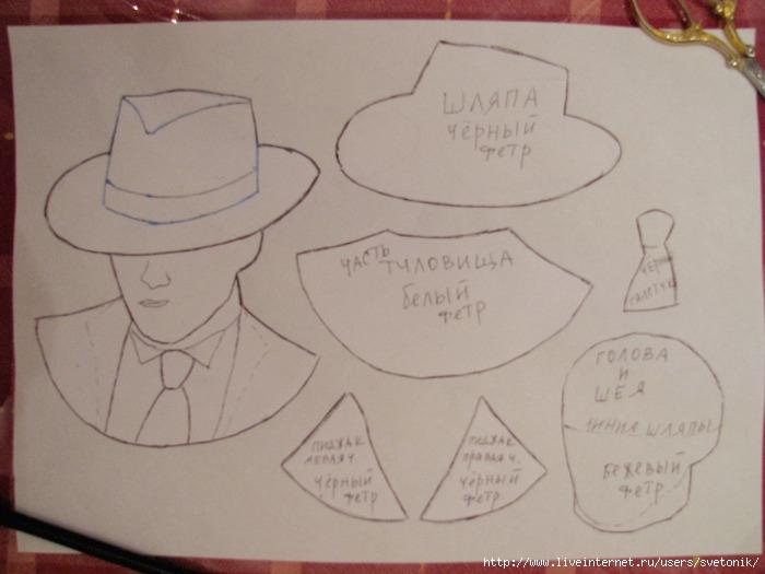 Как сделать мужскую шляпу из картона