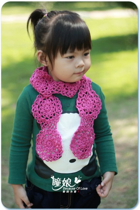 Cute Scarf For A Little Girl Free Crochet Patterns