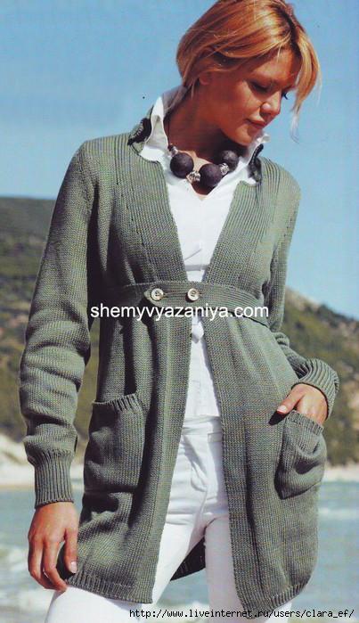 вязание спицами кардиганы жакеты схемы описание - Лучшие концепции стиля и моды.