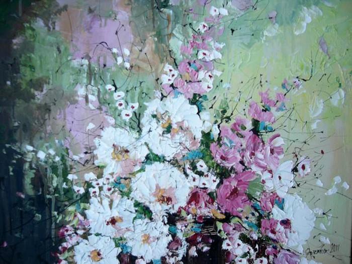 Прекрасные полевые цветы - натюрморты Михаила Яремкива