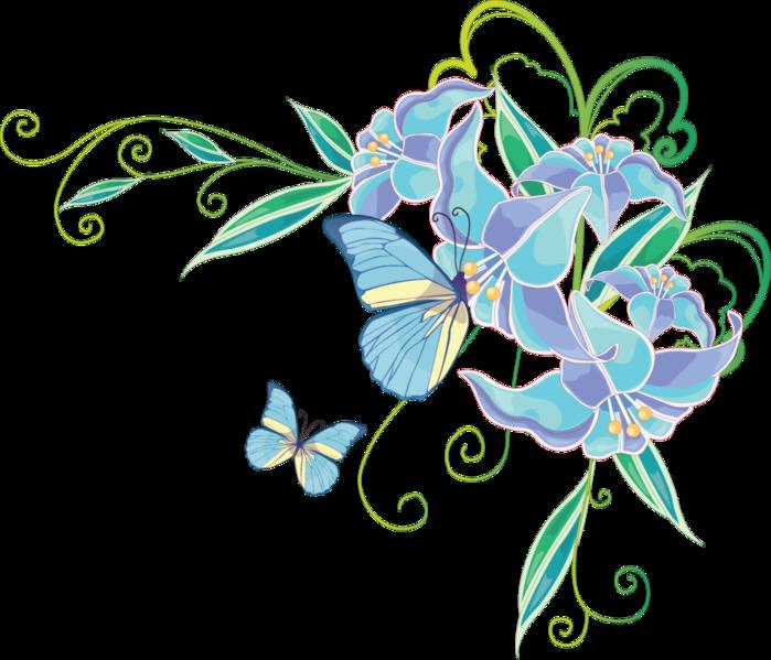 Уголки из цветов картинки 6