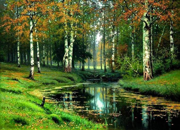 золотая осень.тихая речка (700x505, 104Kb)