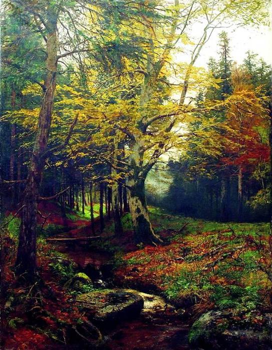 ручей в лесу (543x700, 106Kb)
