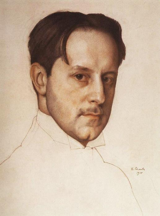 Портрет М.В.Добужинского. 1910 (517x700, 75Kb)