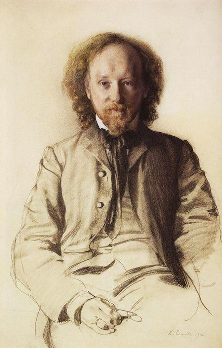 Портрет писателя и поэта В.И.Иванова. 1906 (447x700, 105Kb)