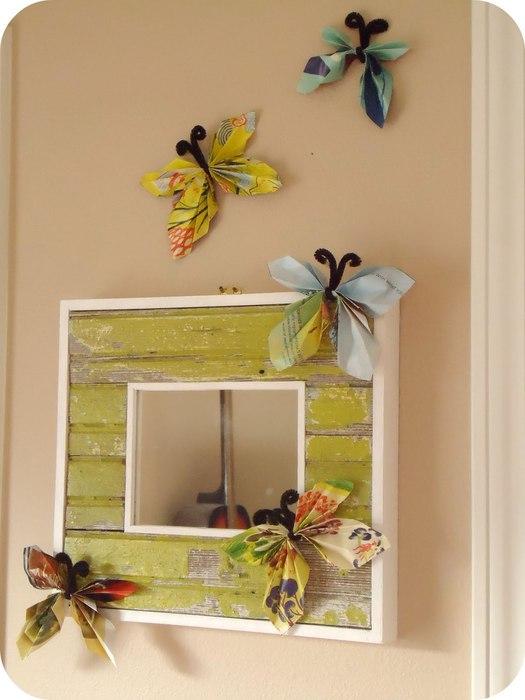 Бабочки своими руками рамка для