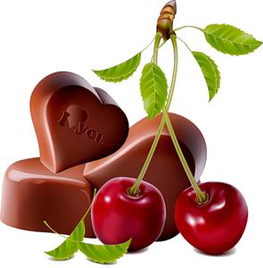 шоколад и вишенки (295x300, 89Kb)