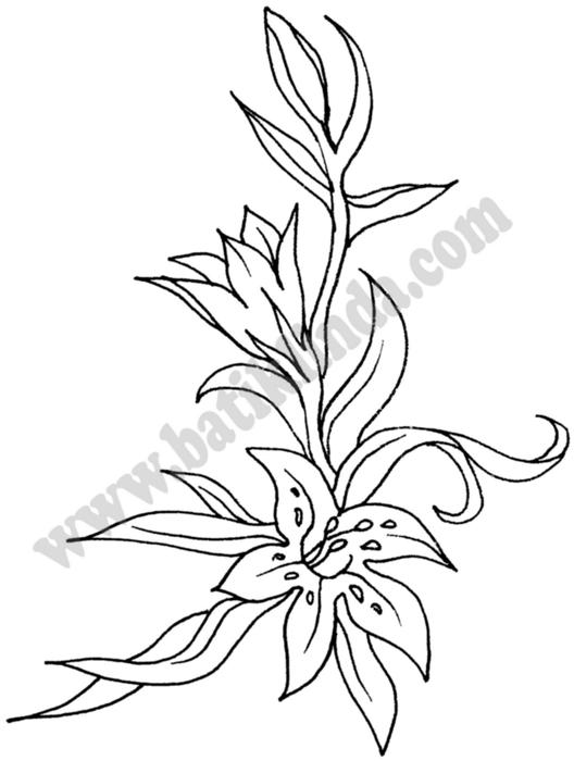 Картинки цветов для батика 7