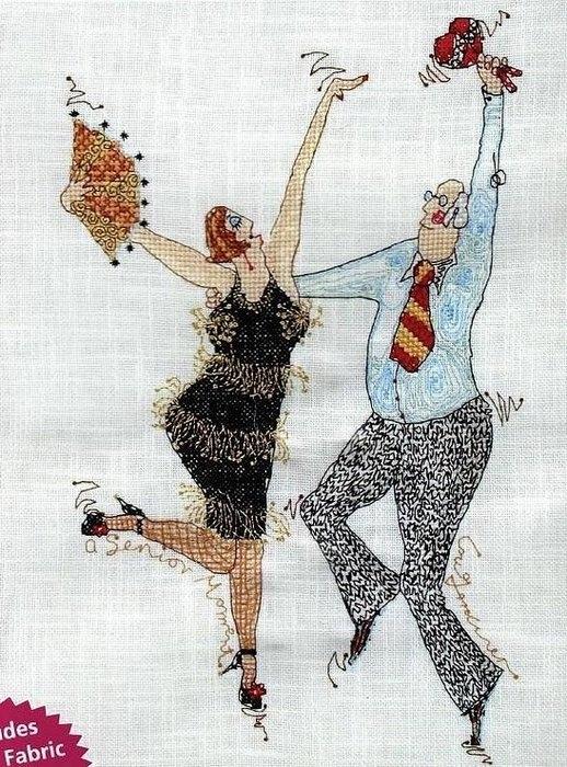 Вышивка. Веселый танец