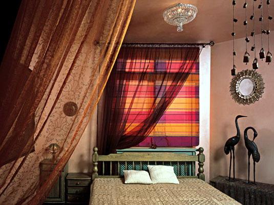 Африканский стиль в интерьере спальни.