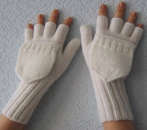 Вязание крючком варежки перчатки - Master class.