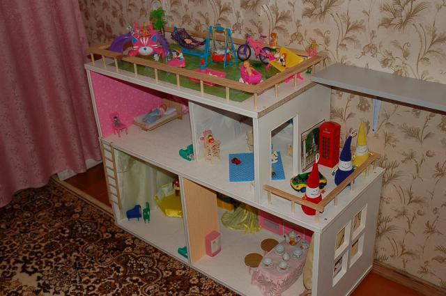 Кукольные домики из коробок своими руками фото