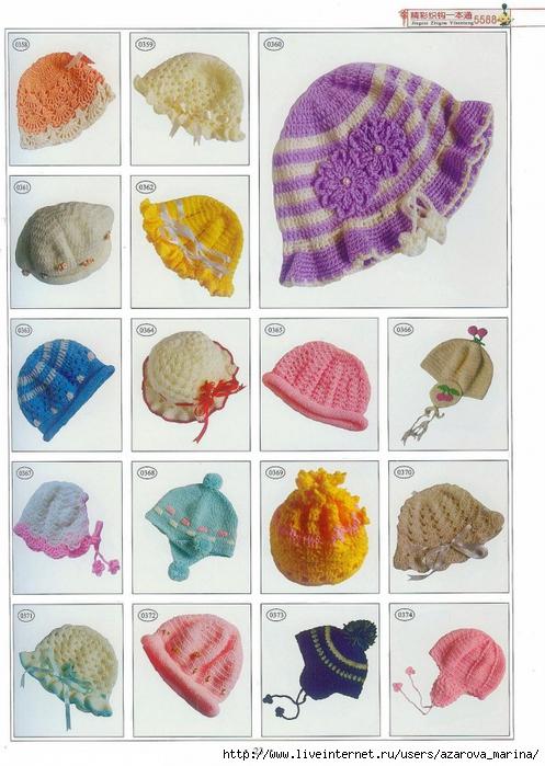 قبعات كروشيه للاطفال مع الباترون 79395793_4134138_p23