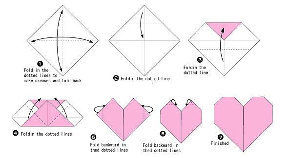 оригами простые схемы