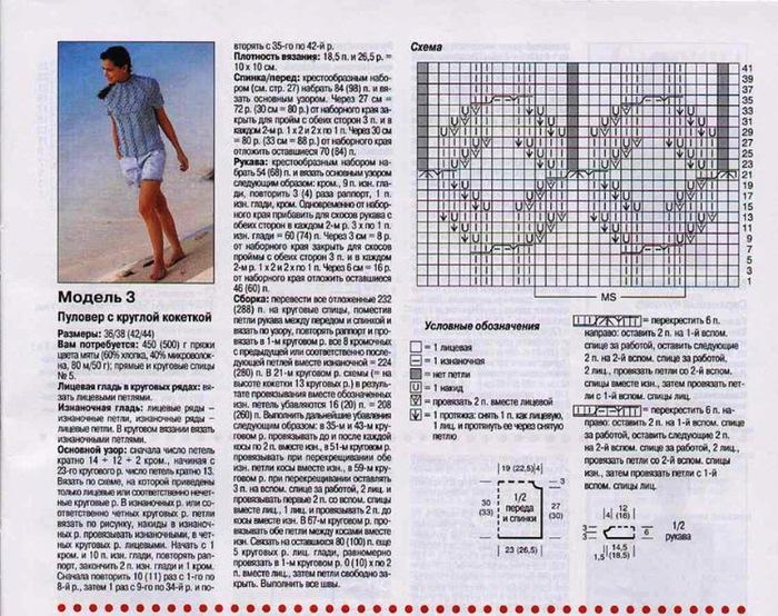 Вязание спицами кокетки сверху схемы и описание 958