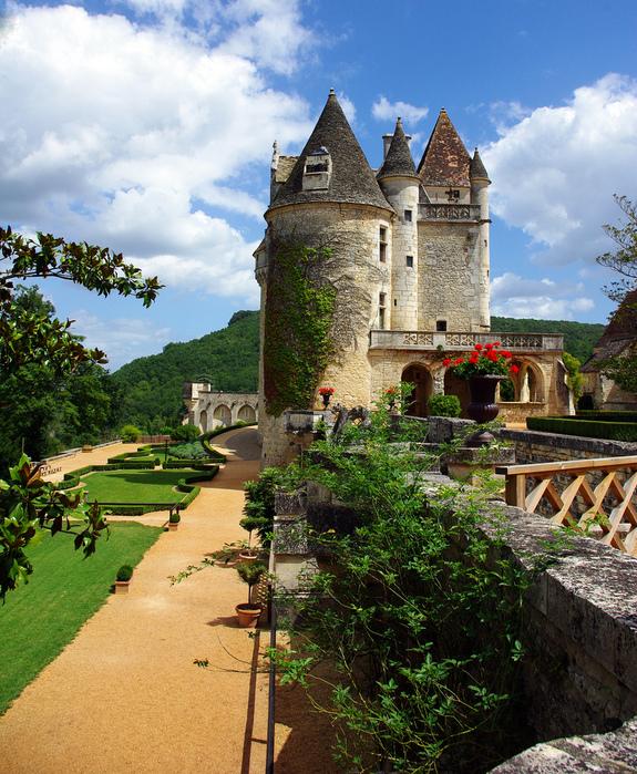 замок в Миланде (Chateau des Milandes). 70667