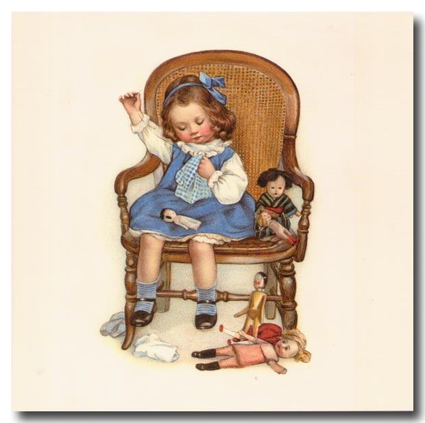 Девочка с куклой открытка 68
