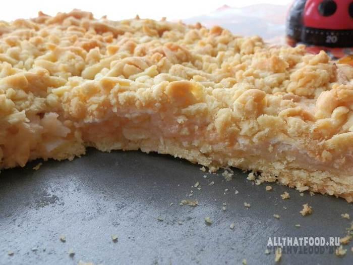 Песочный пирог с яблоком рецепты с