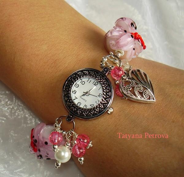 649. наручные часы ЖЕНСКОЕ ОЧАРОВАНИЕ, ручная работа на заказ (600x578, 93Kb)