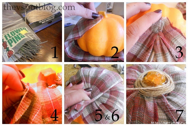 flannel pumpkin, autumn, tutorial, plaid (640x429, 248Kb)