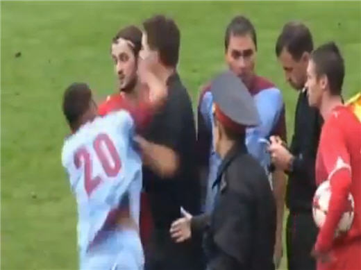 Молдавский футболист ударил судью в лицо кулаком и завершил свою карьеру