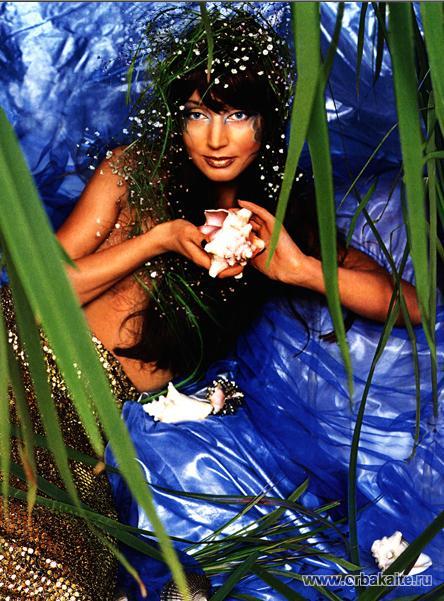 Нагая Кристина Орбакайте в роли русалки. порно фото Кристины Орбакайте.