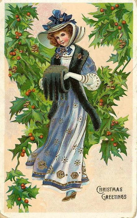 Понедельник, 26 Ноября 2012 г. 20:05. винтаж. иллюстрации. новый год , рождество.  Это цитата сообщения.